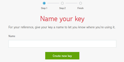 Create a new key